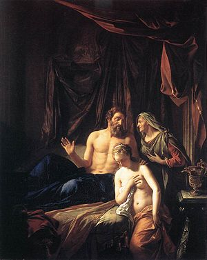 Sarah presenting Hagar to Abraham