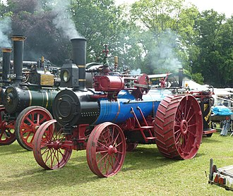 Advance Thresher Co. steam traction engine