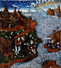 Helenus et Énée offrent un sacrifice
