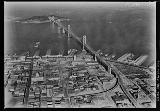 Rincon Hill, San Francisco - Rincon Hill, shortly before the opening of the Bay Bridge in November 1936