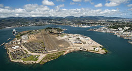 Aerial view of Ford Island Pearl Harbor 2013.JPG