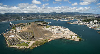 Ford Island - Ford Island, located within Pearl Harbor, Oahu, Hawaii.