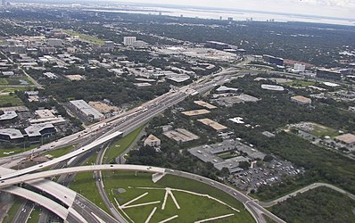Aerial view of Memorial Highway State Road 60 in Tampa, Florida.jpg