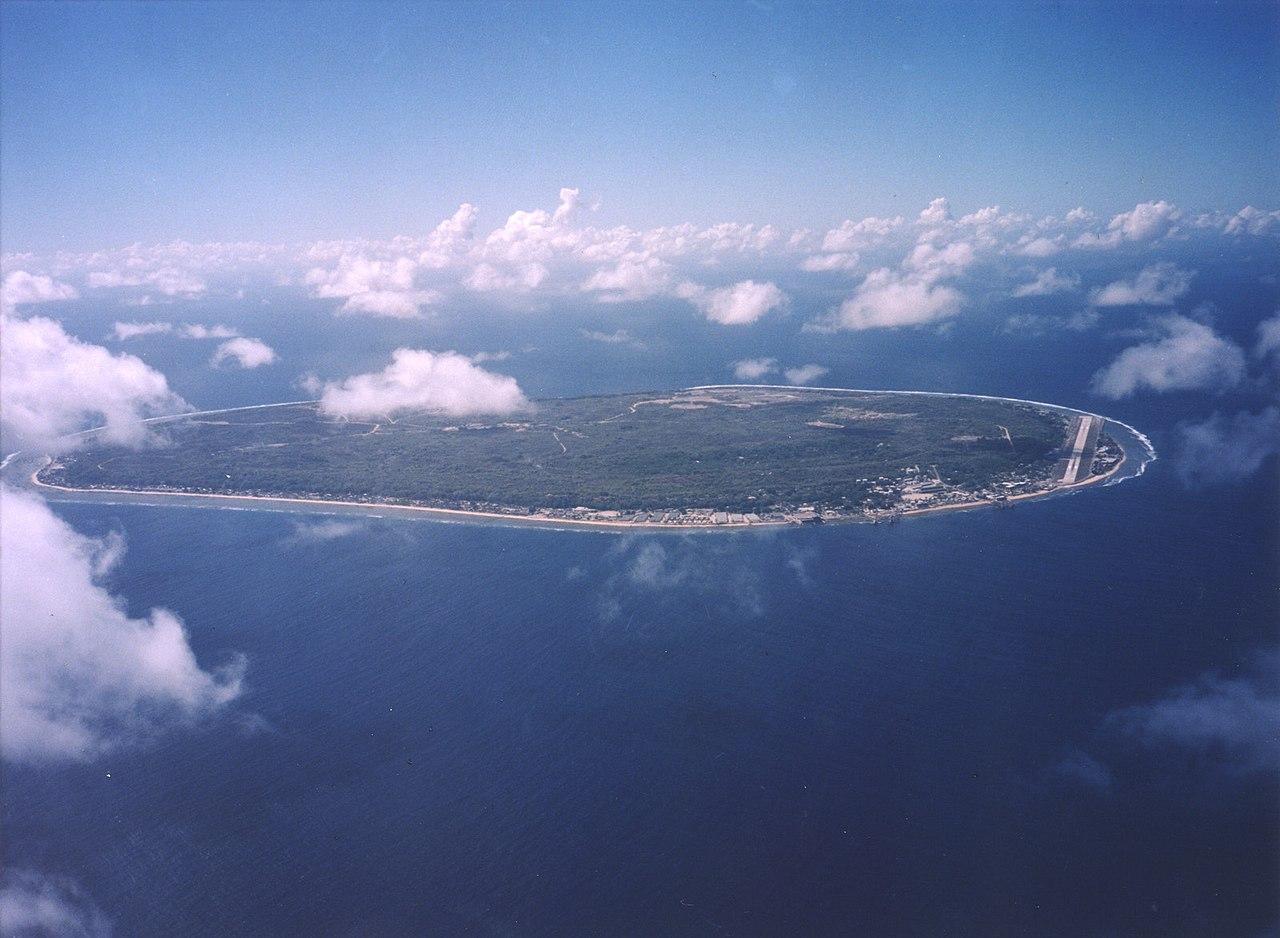 Pemandangan udara Nauru
