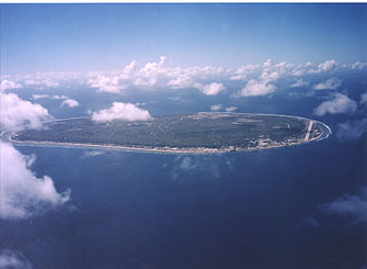 Nauru - Aerial view of Nauru