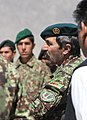 Afghan National Army (ANA) Maj. Gen. Abdul Hamid, right, the commander of the 205th Corps, speaks to ANA soldiers with the 4th Brigade in Deh Rahwod district, Uruzgan province, Afghanistan, March 24, 2014 140324-A-MH103-785.jpg