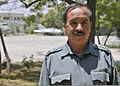 Afghan National Police (ANP) Col. Mohammadi Shams, the director of planning and budgeting efforts for the ANP, attends the Center for Acquisitions and Procurement at the Pohantoon-e-Hawayee military installation 130625-N-HU855-046.jpg