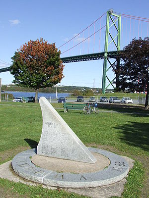 Africville - Monument at the site of  Africville beside the A. Murray MacKay Bridge