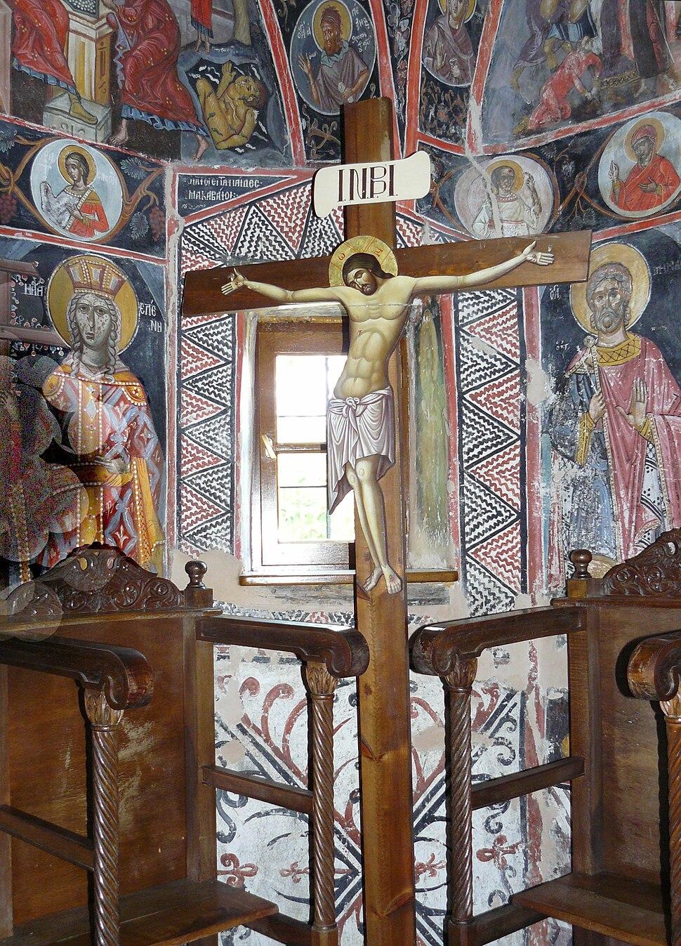 Agias Triados frescos cross