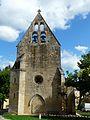 Aillac église clocher-mur.JPG