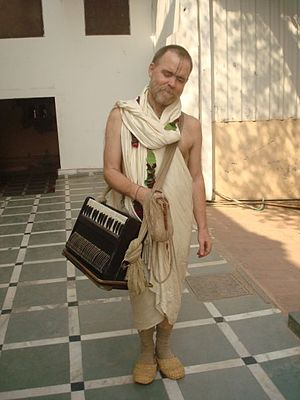 English: Aindra Prabhu in Vrindavan.
