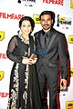 Aishwarya Rajinikanth and Dhanush at 60th South Filmfare Awards 2013.jpg