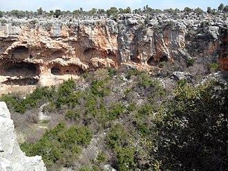 Akhayat sinkhole - A view of the Akhayat sinkhole