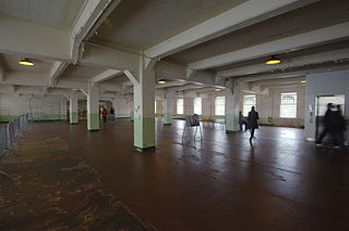 Alcatraz Dining Hall dining hall of Alcatraz Federal Penitentiary in California