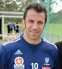 Alessandro Del Piero - the talented, tough,  football player  with Italian roots in 2017