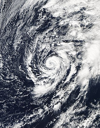 Cyclone - Subtropical Storm Alex in the north Atlantic Ocean in January 2016