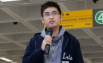 Alex Chow - Alex Chow addresses protesters