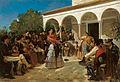 Alfred Dehodencq A Gypsy Dance in the Gardens of the Alcázar.jpg