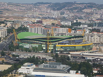Sporting CP - The new José Alvalade Stadium, inaugurated in 2003