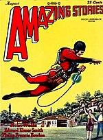 Portada de Amazing Stories, revista pulp de ciencia ficción, 1928.