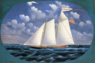 America (yacht) - America 1851, by James Bard.