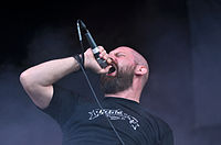 "Anaal Nathrakh, Dave ""V.I.T.R.I.O.L."" Hunt at Party.San Metal Open Air 2013 06.jpg"