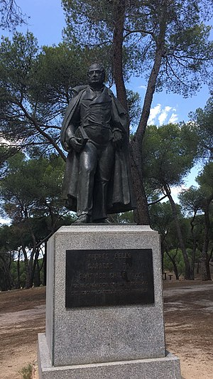 Andrés Bello - Statue of Andrés Bello in Dehesa de la Villa, Madrid (Spain).