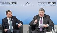 Andrzej Duda und Petro Poroshenko MSC 2017.jpg