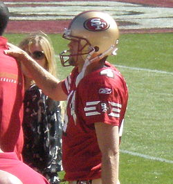 Andy Lee on field pregame at Eagles at 49ers 10-12-08.JPG