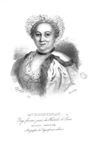 Angélique du Coudray - Madame du Coudray. From Aloïs Delacoux, Biographie des sages-femmes célèbres, anciennes, modernes et contemporaines (Unknown artist. Paris: Trinquart, 1834)