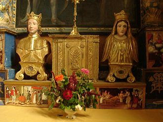 Elzéar of Sabran - Reliquaries of St. Elzéar and Bl. Delphine in the Franciscan church of Ansouis, France