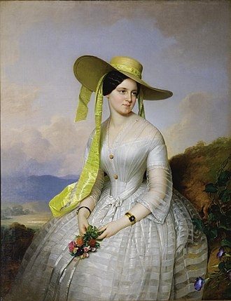 Anton Einsle - Image: Anton Einsle Porträt einer Dame mit Hut