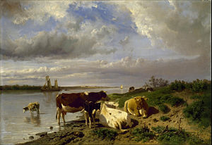 Anton Mauve - Landscape with cattle
