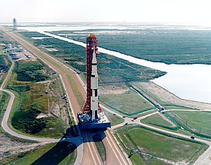 Apollo 8 - The Apollo 8 Saturn V being rolled out to Pad 39A