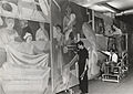 Archives of American Art - Abraham Lishinsky and assistants working on mural - 2918 CROPPED.jpg