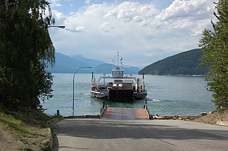 Arrow Lakes - Free Ferry departs Galena Bay for Shelter Bay