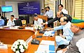 """Arun Jaitley launching a """"Web Responsive Pensioner's Service"""" for Central Civil pensioners, developed by the Central Pension Accounting Office (CPAO), at the inauguration of the 'Mahalekha Niyantrak Bhawan'.jpg"""