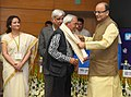 Arun Jaitley presenting the Life Time Achievement award to Shri Bhawan Singh, at the 5th National Photography Awards Ceremony, in New Delhi (1).jpg
