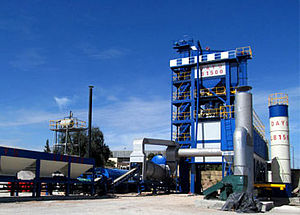 Asphalt concrete -  Asphalt batch mix plant