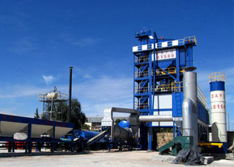 Asphalt - Typical asphalt plant for making asphalt