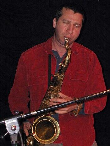 Saxophonist Assif Tsahar in Club W71 in Weiker...