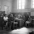 At the Teachers' Room of the Hebrew School Bengazi 1944.jpg