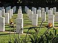 Atherton War Cemetery (2005) headstones.jpg