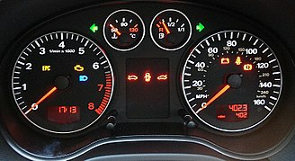 Univers - Audi Sans, a variation of Univers used in the dashboard graphics of an Audi A3 instrument panel
