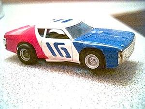 "Mark Donohue -  1972 Aurora AFX HO scale ""flying brick"" Penske-Donohue Matador"