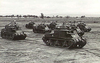 1st Armoured Division (Australia) - M3 Grants of the 1st Armoured Division at Puckapunyal, June 1942
