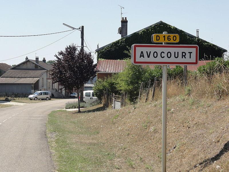 Avocourt (Meuse) city limit sign