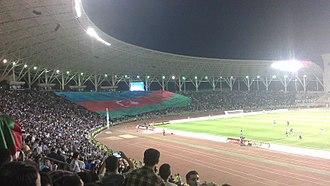 Tofiq Bahramov Republican Stadium - Image: Azerbaijan flag, Qarabağ (AZE) Saint Etienne (FRA) football match (4)