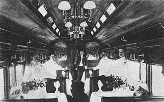Dining car - Dining car Queen on the B&O ''Royal Blue'' in 1895