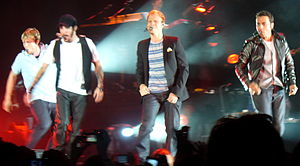 Unbreakable Tour (Backstreet Boys tour) - Backstreet Boys performing in Stockholm, Sweden on April 14, 2008.